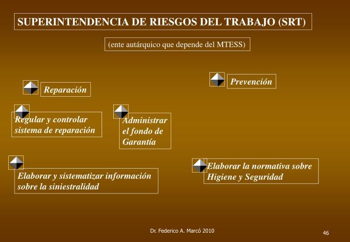 SUPERINTENDENCIA DE RIESGOS DEL TRABAJO (SRT)
