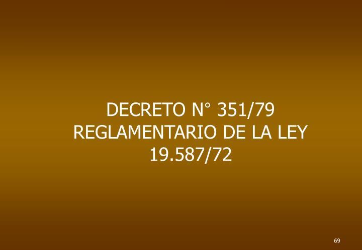 DECRETO N° 351/79