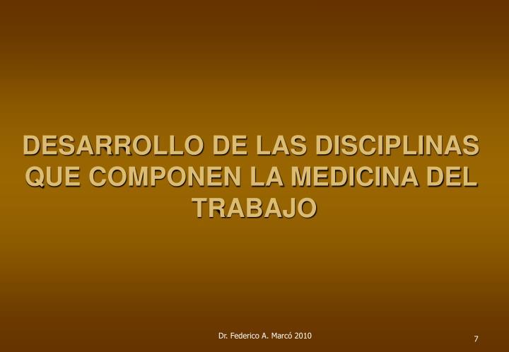DESARROLLO DE LAS DISCIPLINAS