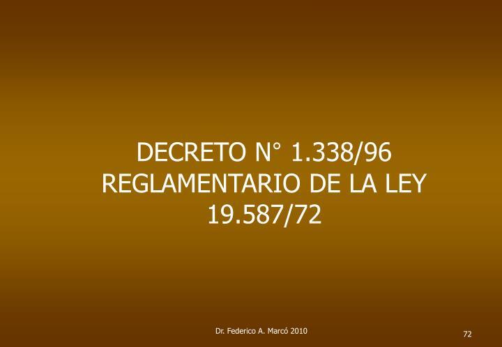 DECRETO N° 1.338/96