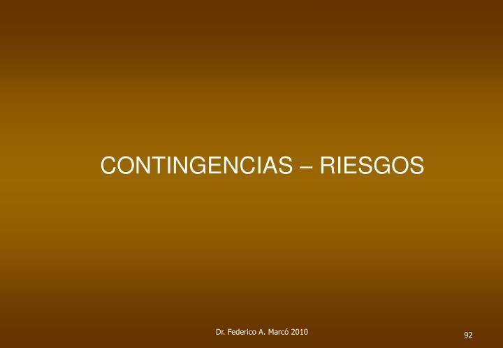 CONTINGENCIAS – RIESGOS