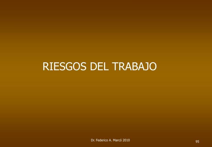 RIESGOS DEL TRABAJO