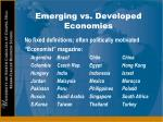 emerging vs developed economies