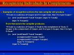 recognizing individuals in complements1