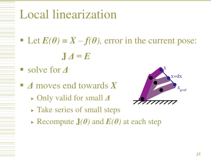 Local linearization