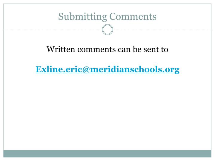 Submitting Comments