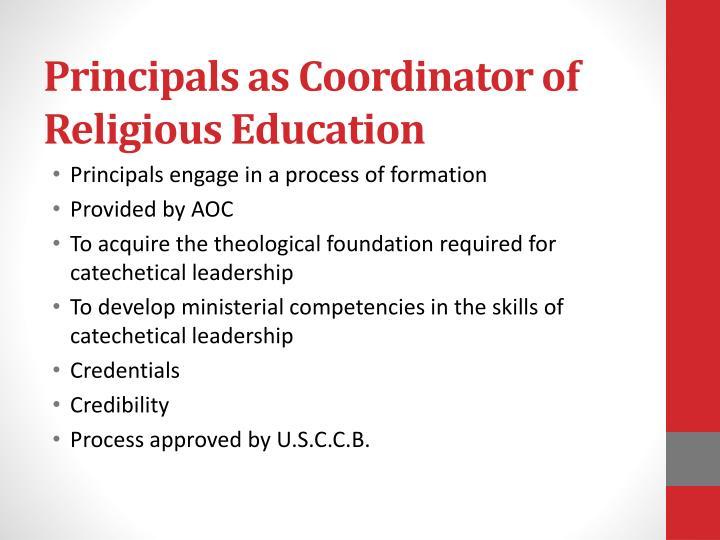 Principals as Coordinator of