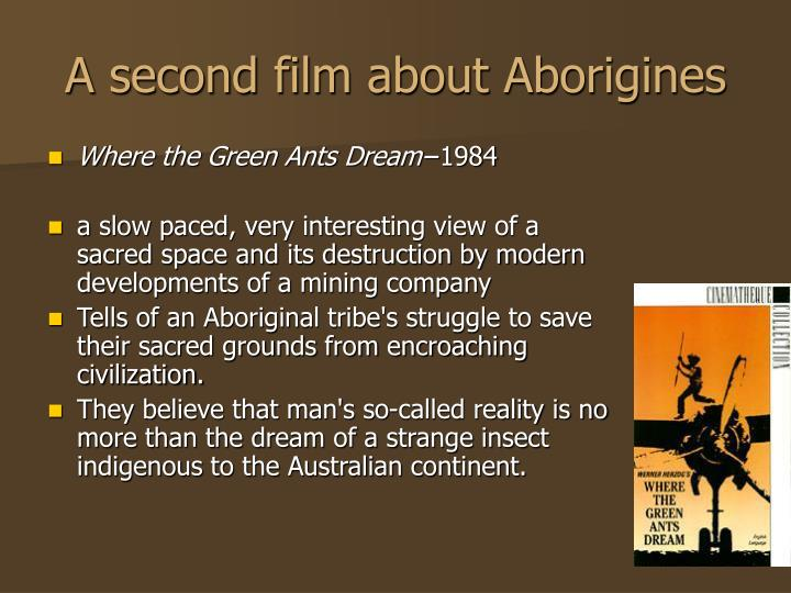 A second film about Aborigines