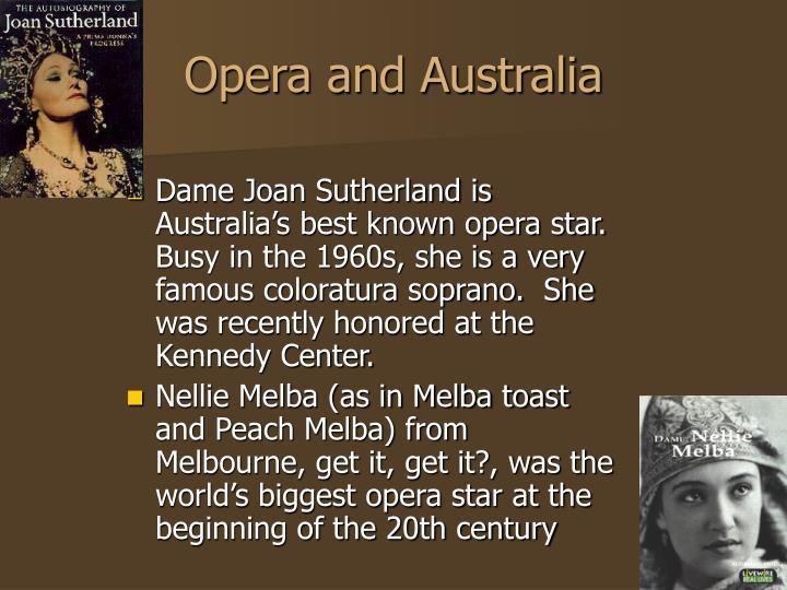 Opera and Australia