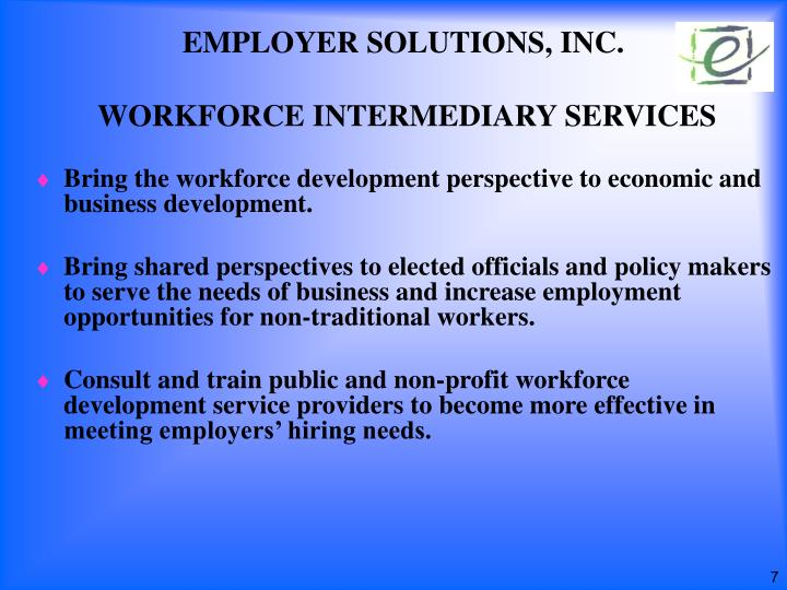 EMPLOYER SOLUTIONS, INC.