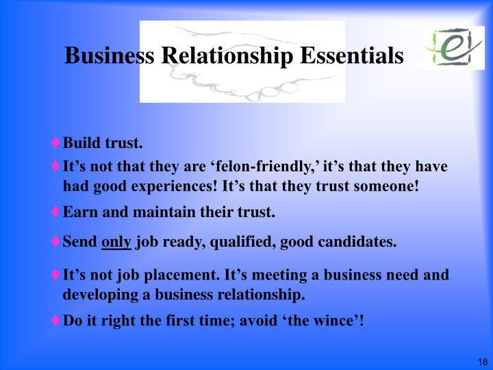 Business Relationship Essentials