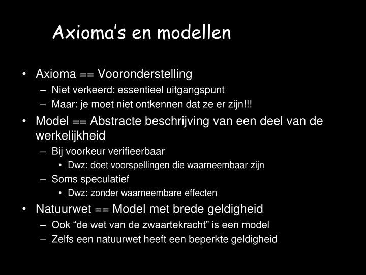 Axioma's en modellen