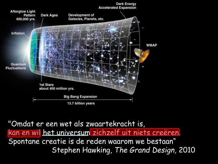 """""""Omdat er een wet als zwaartekracht is,"""