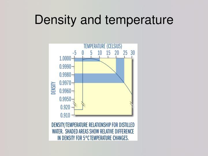 Density and temperature