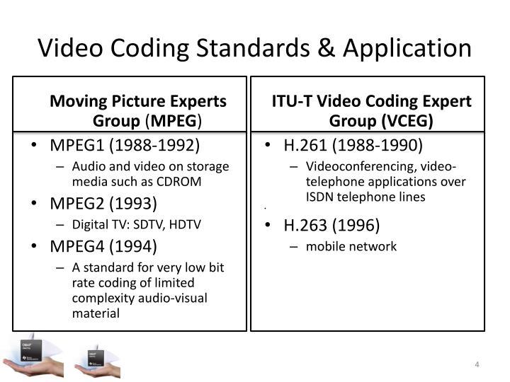 Video Coding Standards & Application
