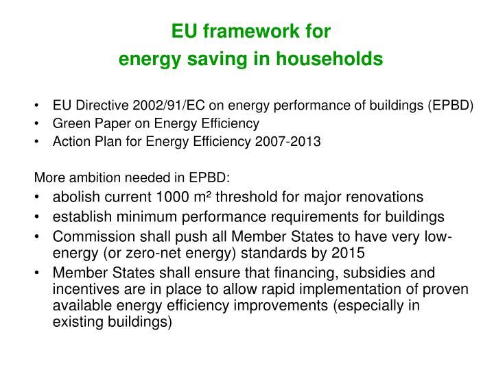 EU framework for