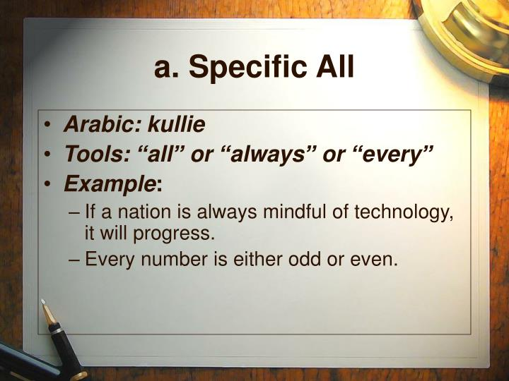 a. Specific All