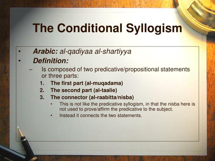 The conditional syllogism