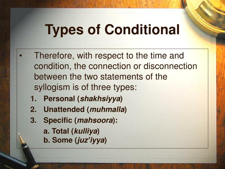 Types of Conditional