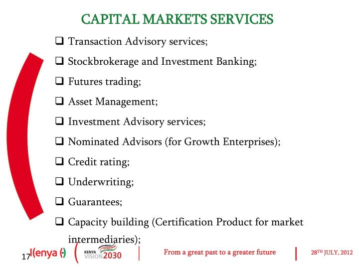 CAPITAL MARKETS SERVICES