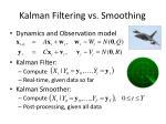 kalman filtering vs smoothing
