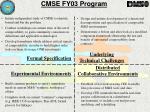 cmse fy03 program