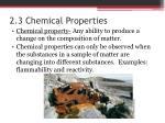 2 3 chemical properties