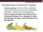 recognizing a chemical change