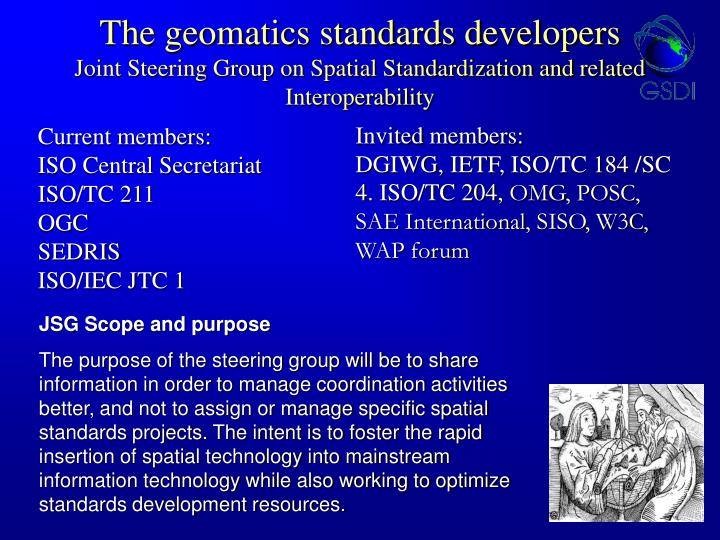 The geomatics standards developers
