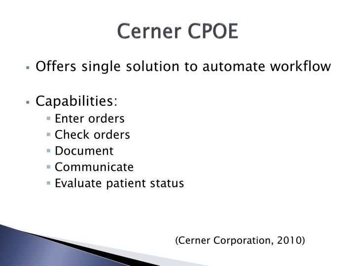 Cerner CPOE