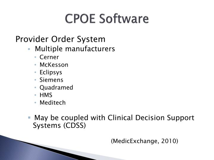 CPOE Software