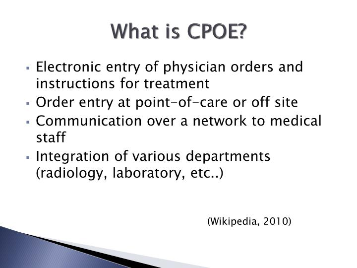 What is cpoe