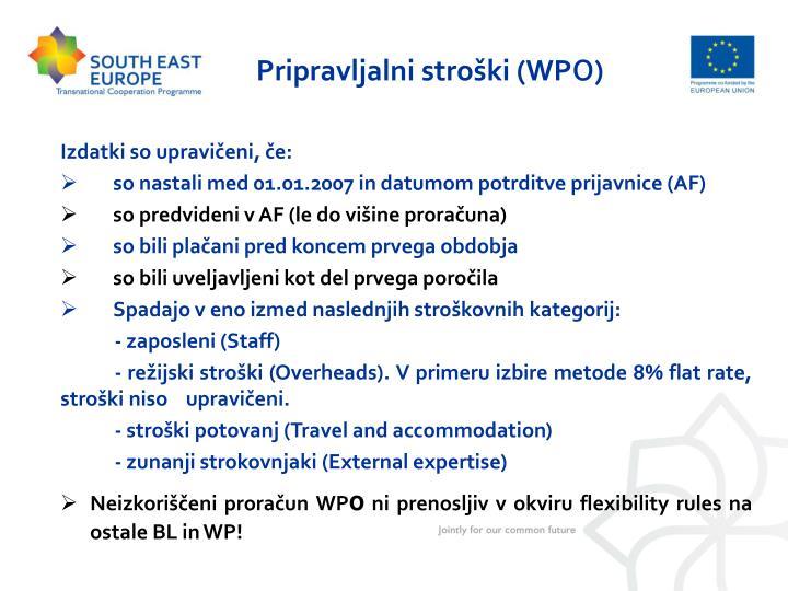 Pripravljalni stroški (WP