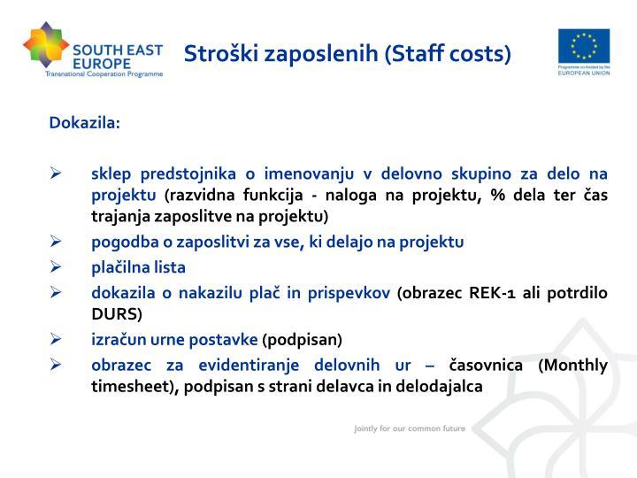 Stroški zaposlenih (Staff costs)