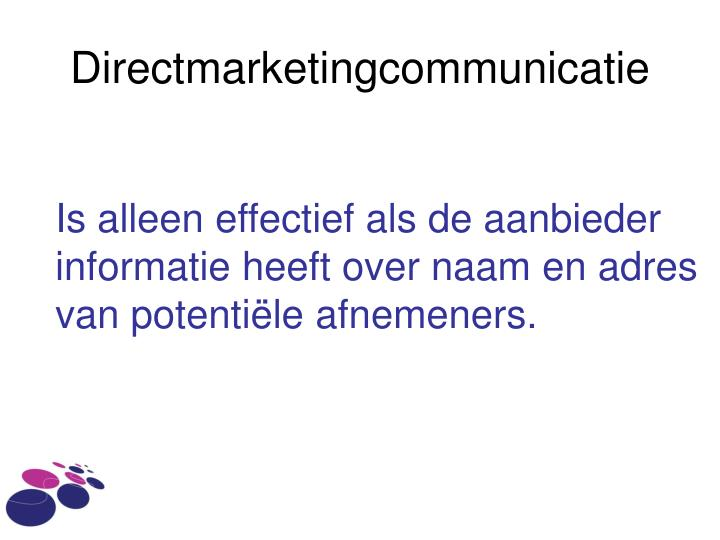 Directmarketingcommunicatie