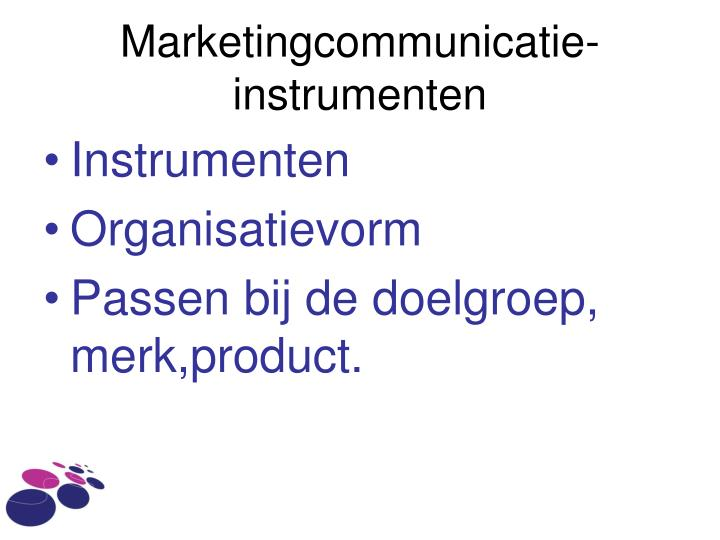 Marketingcommunicatie-instrumenten