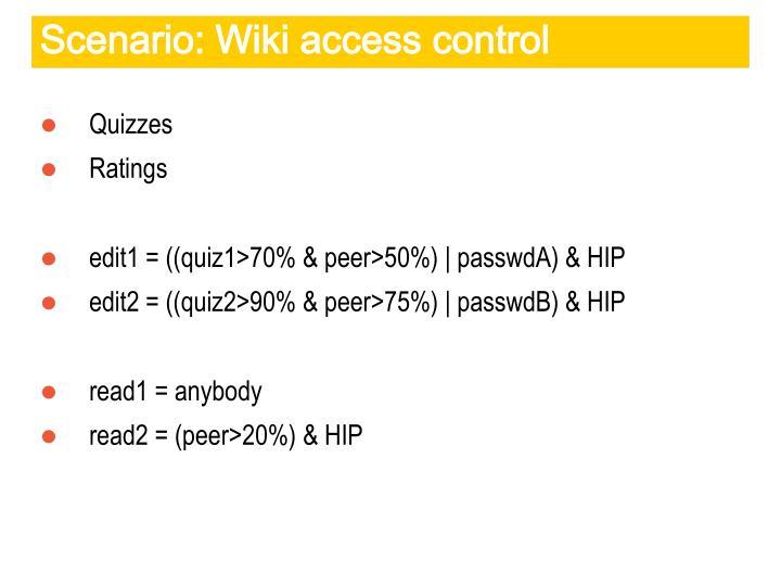 Scenario: Wiki access control