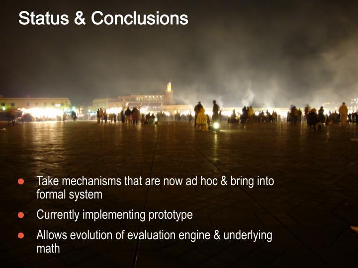 Status & Conclusions