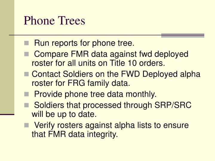 Phone Trees