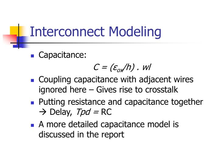 Interconnect Modeling