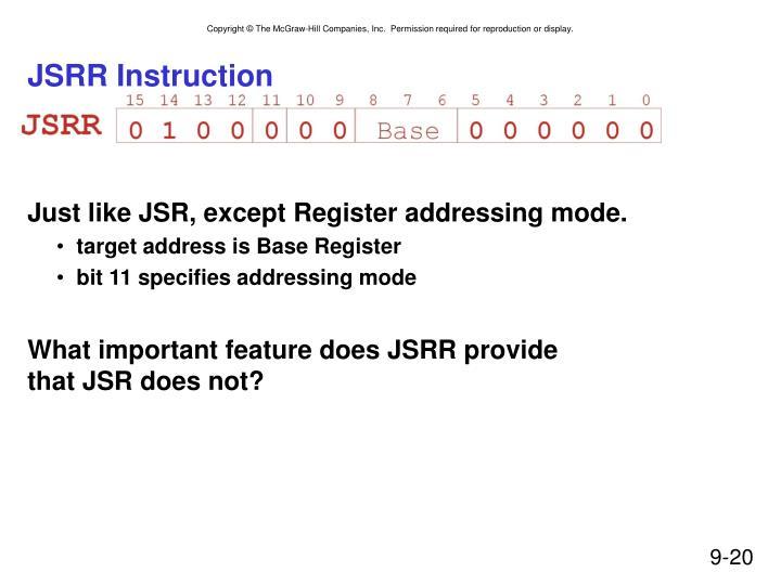 JSRR Instruction