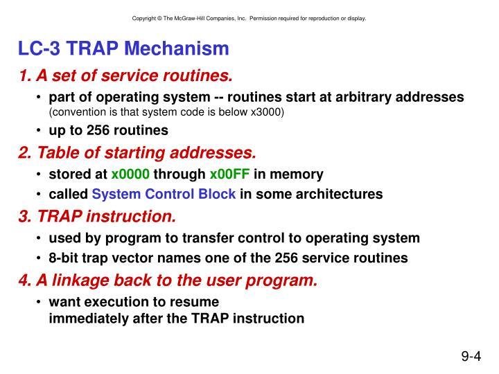 LC-3 TRAP Mechanism