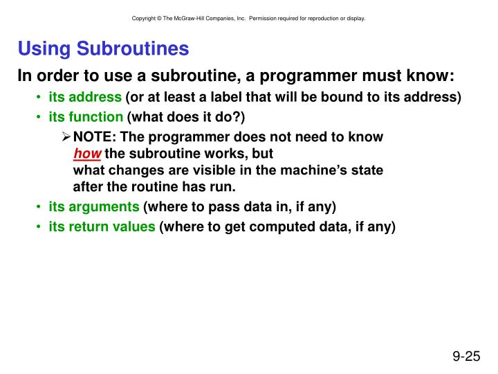 Using Subroutines