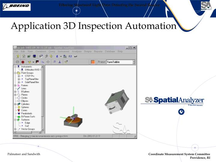 Application 3D Inspection Automation