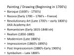 painting drawing beginning in 1700 s