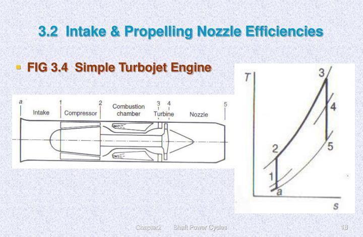 3.2  Intake & Propelling Nozzle Efficiencies