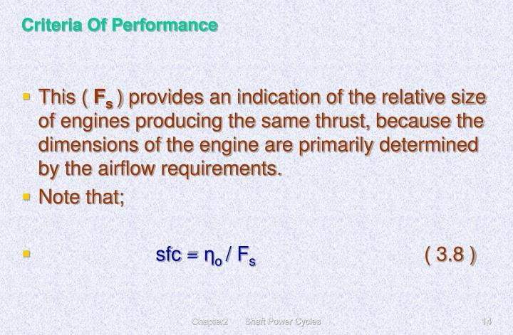 Criteria Of Performance