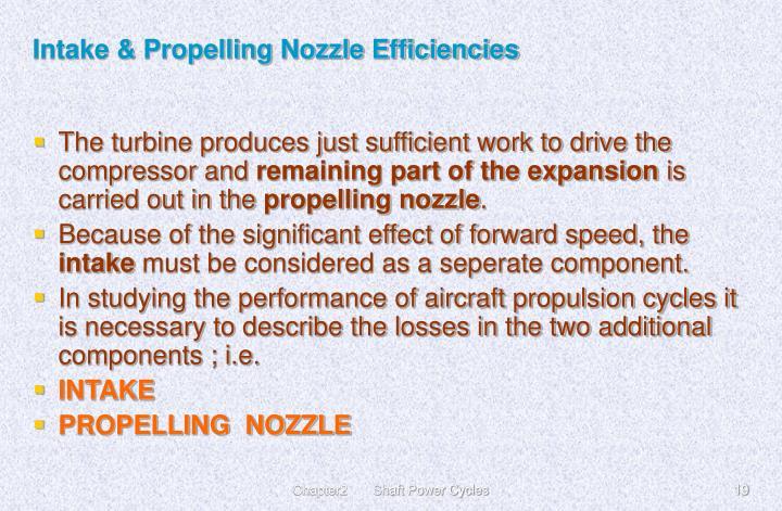 Intake & Propelling Nozzle Efficiencies