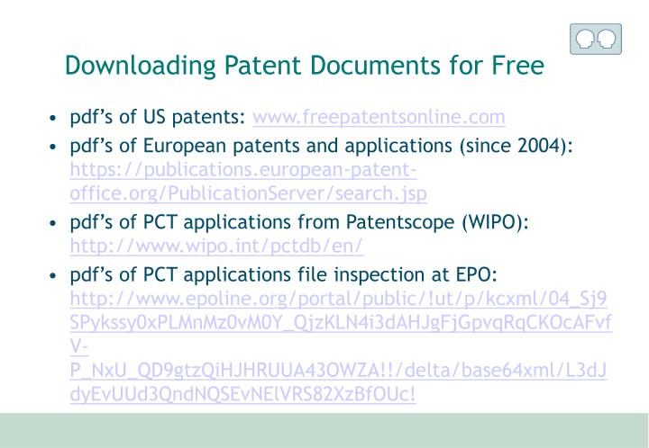 Downloading Patent Documents for Free
