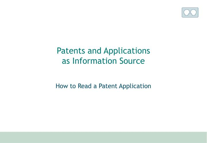 Patents and Applications